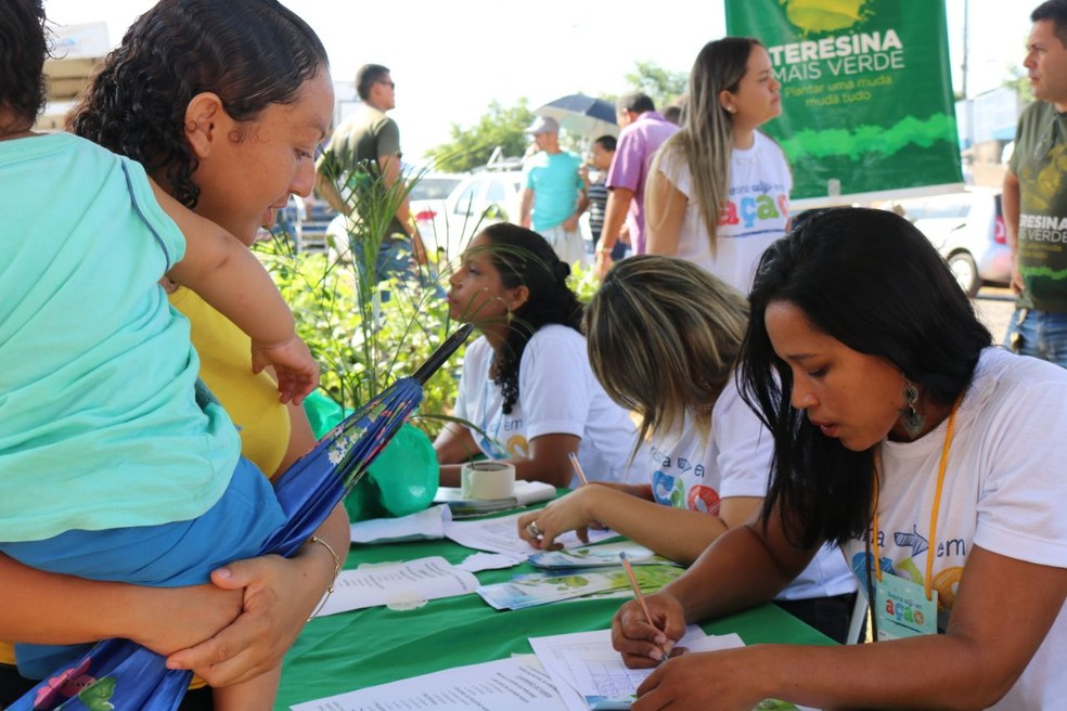 Atendimento é feito de forma personalizada no Teresina em Ação (Foto: José Marcelo/G1)