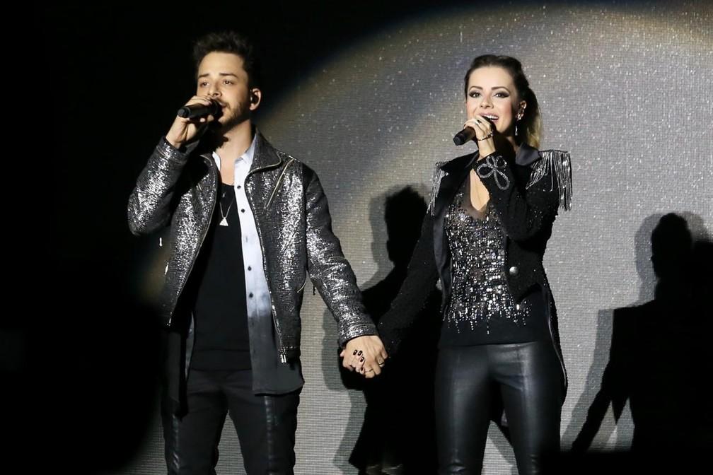 Sandy e Junior no show em Salvador — Foto: Manu Scarpa/ Agência Brazil News