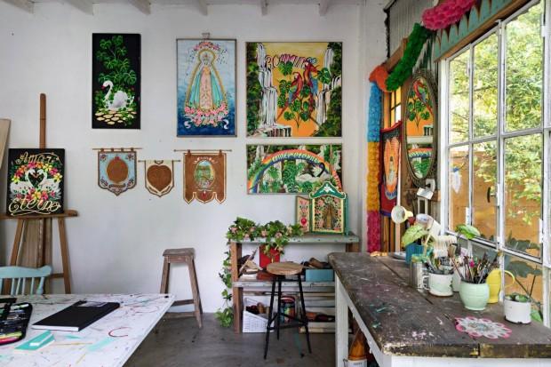 Life By Lufe. Casa-ateliê da pintora Consuelo Vidal (Foto: Lufe Gomes / Editora Globo)