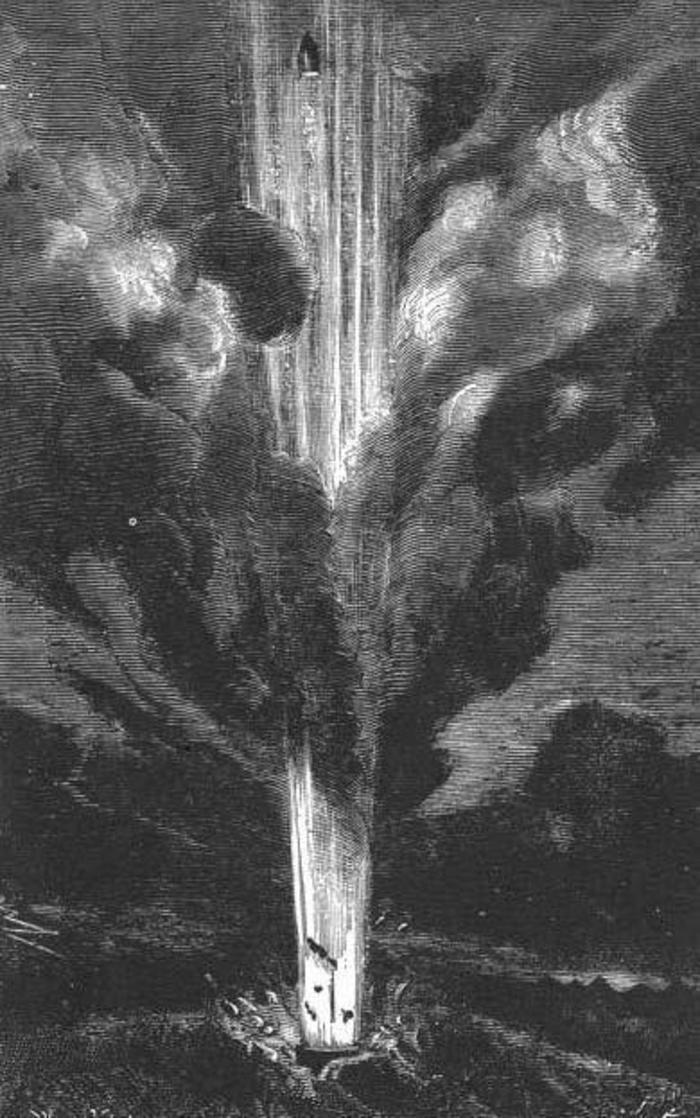 Ilustração da edição de 1872 da obra de Júlio Verne (Foto: Wikimedia)