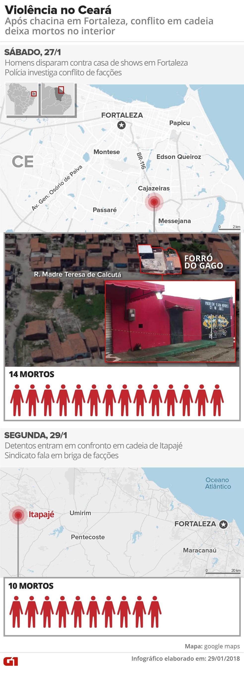Chacina em Fortaleza (Foto: Igor Estrella/G1)