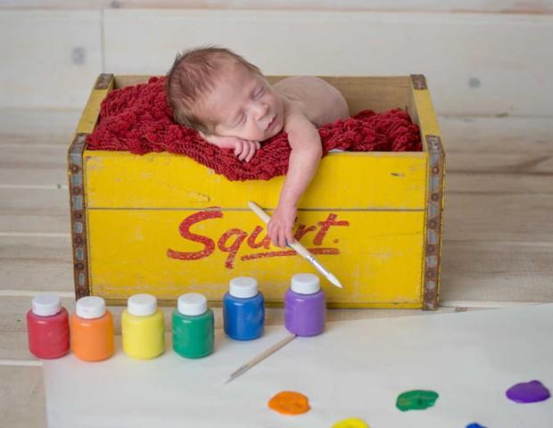 bebê arco-íris (Foto: Finn Photography)
