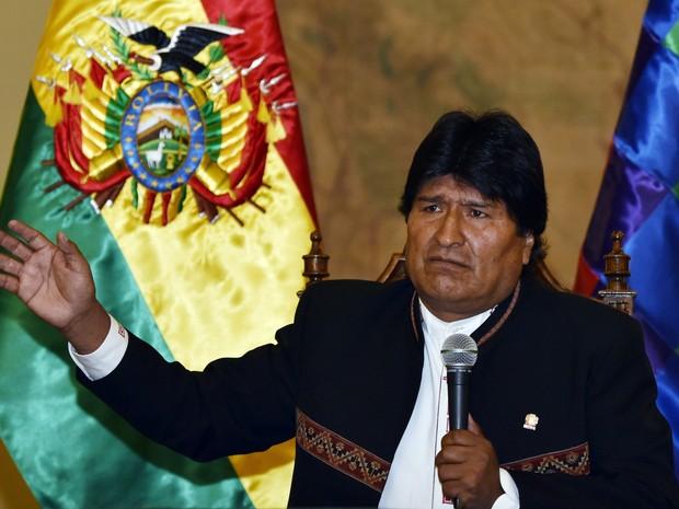 Presidente da Bolívia, Evo Morales, em foto de 22 de fevereiro de 2016 (Foto: Aizar Raldes/AFP)