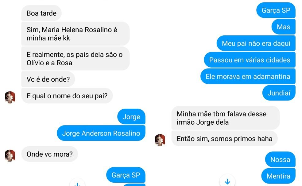Família de Garça encontrou tia perdida através das redes sociais — Foto: Facebook/Reprodução