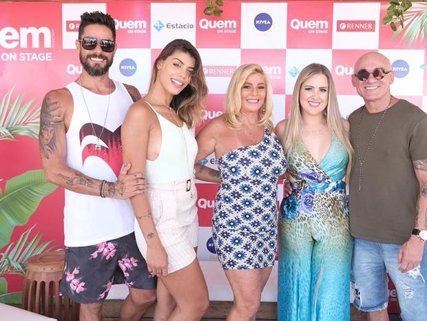 Ex-BBBs: Diego e Franciele Grossi, Cida Moraes, Patrícia Leitte e Ayrton Lima (Foto: Renato Wrobel/QUEM)