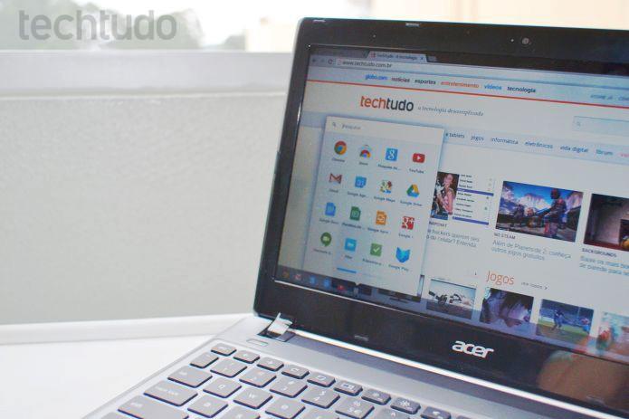 Chrome OS guarda os arquivos salvos todos na nuvem (Foto: Andrea/TechTudo)