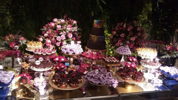 Mesa de doces da festa de Giovanna Ewbank e Léo Fuchs (Foto: Reprodução/Instagram)