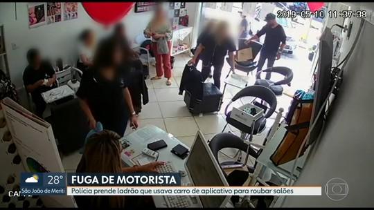 Homem que usava carro de aplicativo para roubar celulares dentro de salões de beleza é preso no RJ