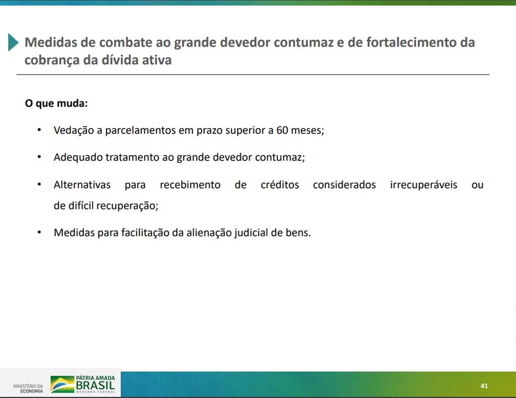 Proposta apresentada pelo governo para reforma da Previdência Social — Foto: Reprodução/Ministério da Economia