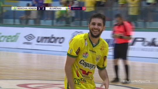 Os gols de Marechal Rondon 4 x 2 Blumenau pela Liga Nacional de Futsal