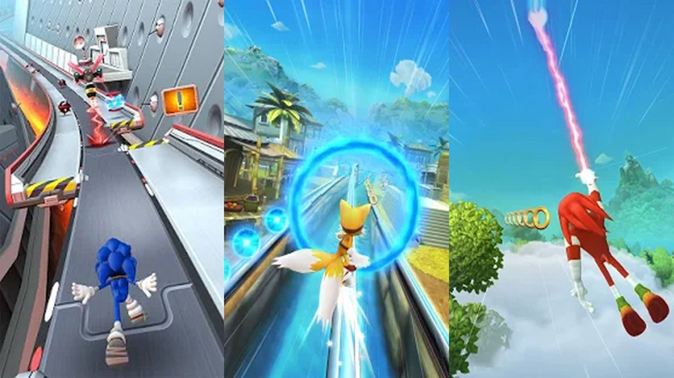 Sonic Dash 2: Sonic Boom traz os personagens e suas habilidades baseados na série animada Sonic Boom — Foto: Reprodução/Google Play