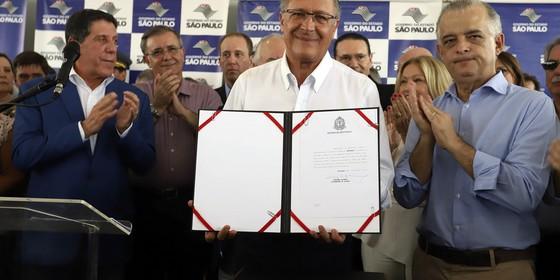 Geraldo Alckmin e Márcio França (Foto: Divulgação/Governo do Estado de São Paulo)