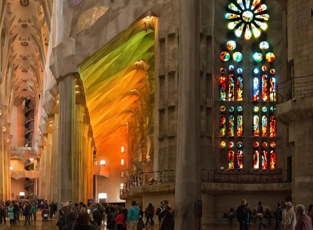 A conclusão da Sagrada Família está prevista para 2026 (Foto: Flickr/ Reprodução)