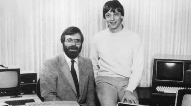 Paul Allen e o jovem Bill Gates, em meados da década de 1990: eles são os fundadores da Microsoft (Foto: Reprodução)