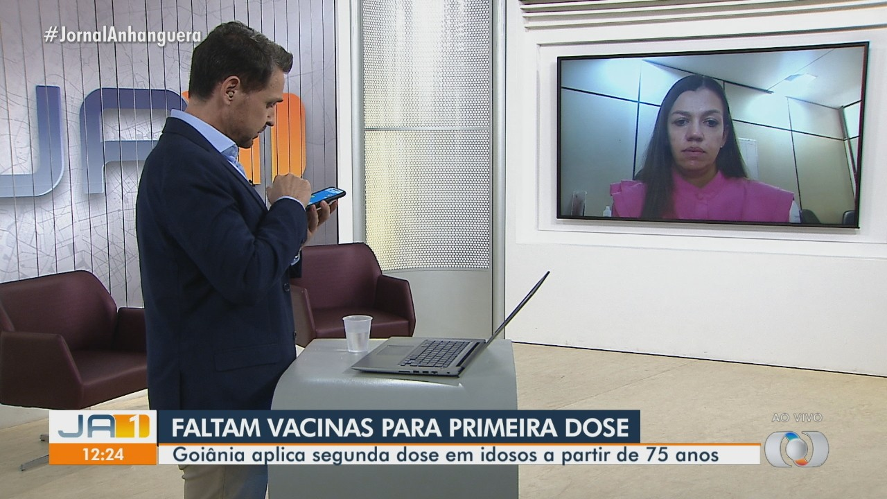 Faltam vacinas contra a Covid-19 para a 1ª dose em Goiânia