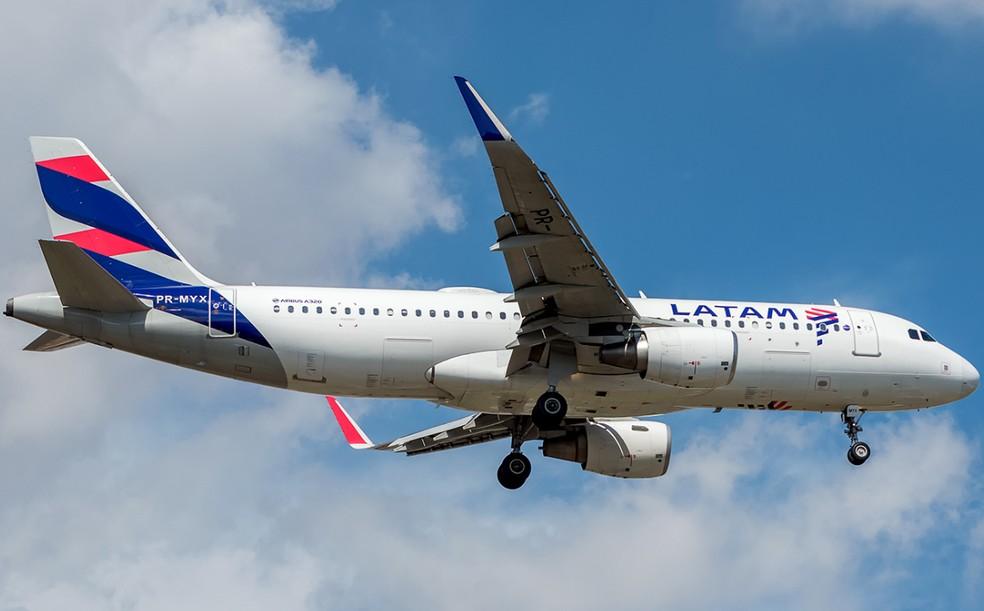 Avião da Latam  — Foto: Gabriel Magacho / Jet Photos / FlightRadar24 / Reprodução