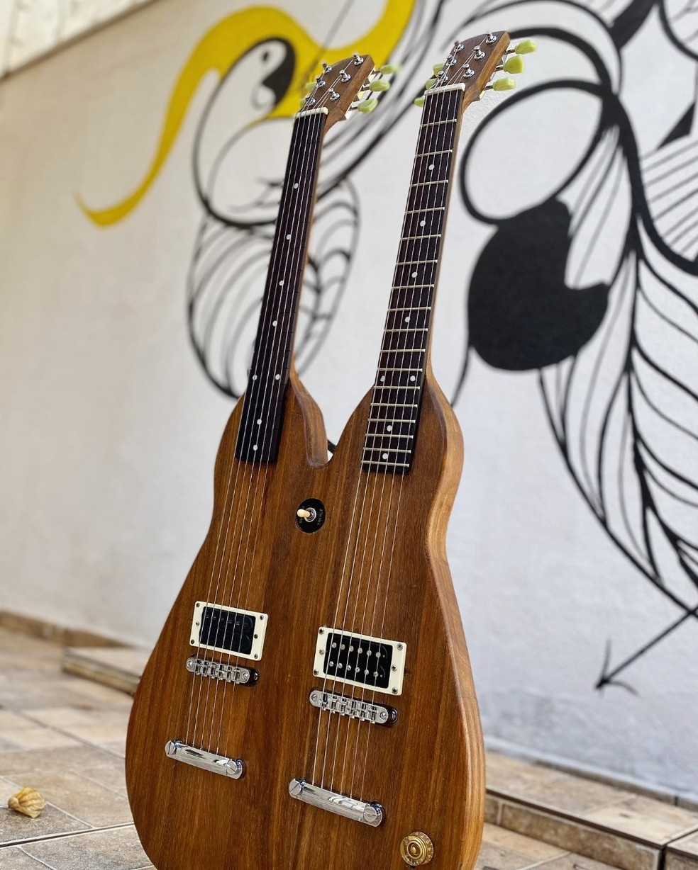 'Viola de cocho' criada por músico mato-grossense — Foto: Divulgação