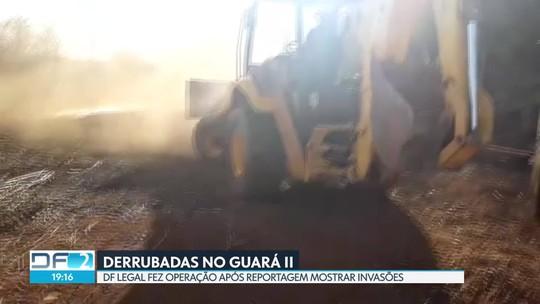 DF Legal faz operação para derrubar invasões no Guará II