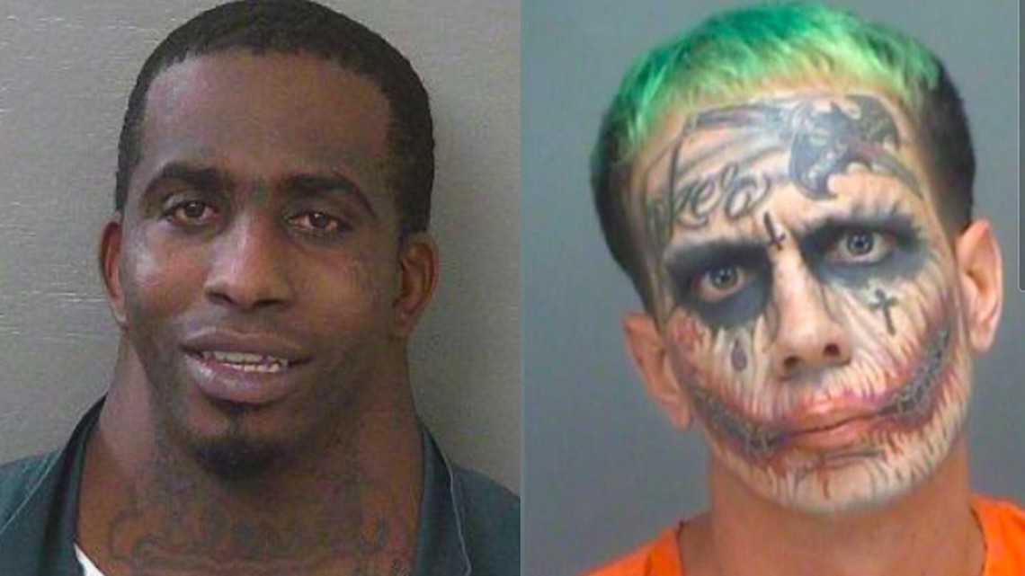 Lawrence Patrick Sullivan, com suas tatuagens inspiradas no vilão Coringa, e seu comparsa (Foto: Divulgação)