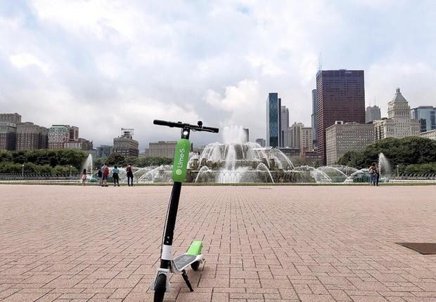 Patinete da Lime em Chicago, Estados Unidos (Foto: Facebook/Lime)