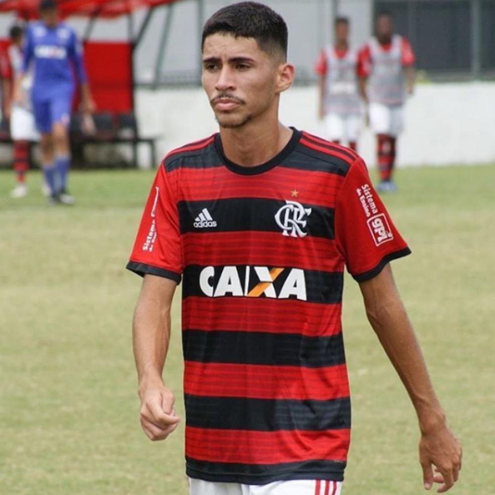 Rykelmo, jogador das categorias de base do Flamengo — Foto: Reprodução