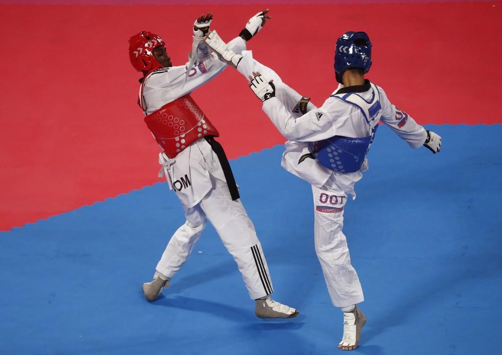 Netinho Marques conquistou o ouro no taekwondo com uma virada no fim — Foto: REUTERS/Susana Vera