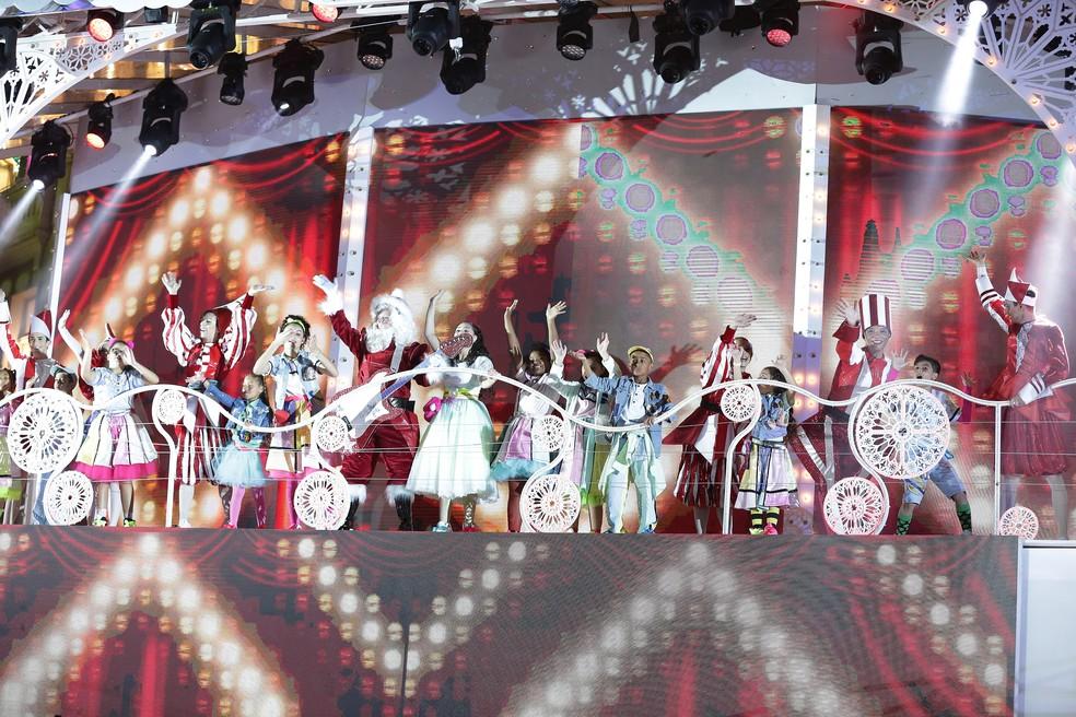 O espetáculo tem 28 músicas, sendo 11 delas inéditas — Foto: Giuliano Gomes/PR Press