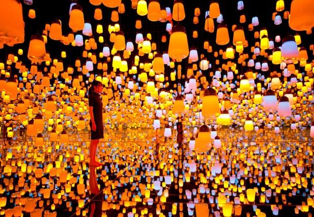 Digital Art Museum forest lamp (Foto: Divulgação )