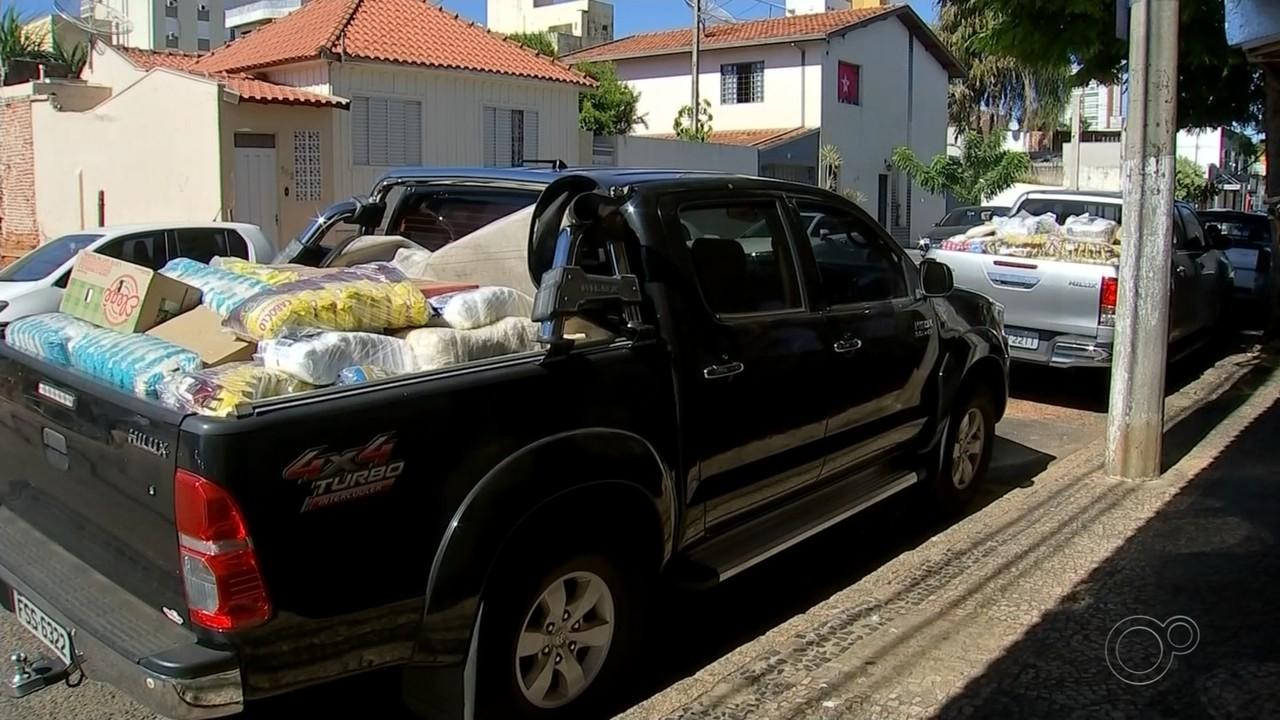 Drives solidários arrecadam alimentos para famílias carentes no centro-oeste paulista