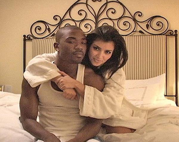 A celebridade Kim kardashian e seu ex, Ray J (Foto: Reprodução)