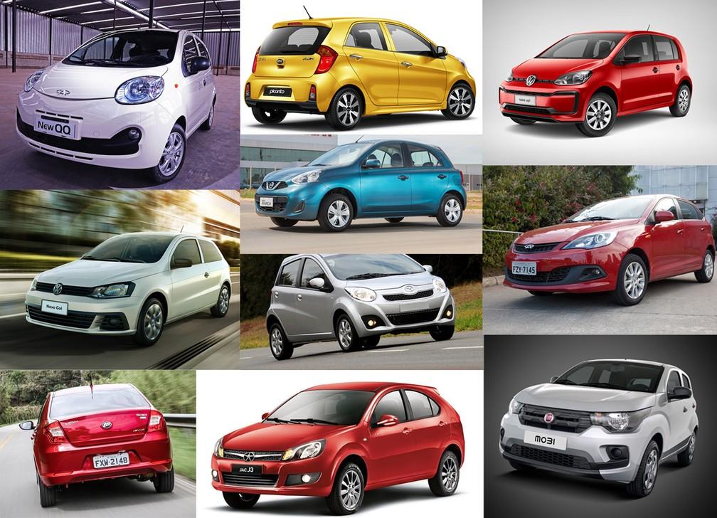 fd98e715a0b8 LISTA: veja os 10 carros zero mais baratos do Brasil | Auto Esporte | G1