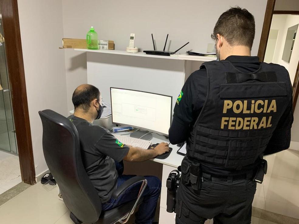 Polícia Federal deflagra operação contra divulgação e comercialização de dados de brasileiros — Foto: PF/Divulgação