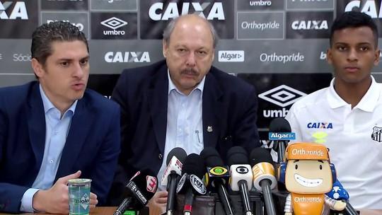 """Peres revela """"gostinho"""" por não ter negociado Rodrygo com o Barça; venda ao Real foi encaminhada em cafeteria"""