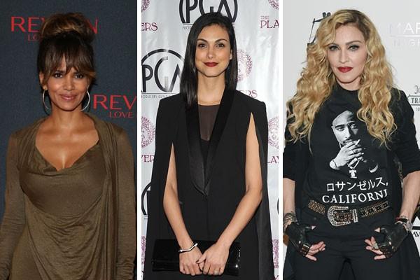 Halle Barry, Morena Baccarin e Madonna precisaram dar muito dinheiro para exorcizar o fantasma de seus respectivos ex-maridos (Foto: Getty Images)