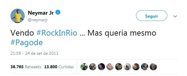 Neymar resume em um tuíte o signo de gêmeos (Foto: Reprodução / Twitter)