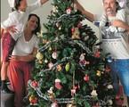 Eriberto Leão e a família em sua casa em itaipava, na Serra Fluminense | Acervo pessoal