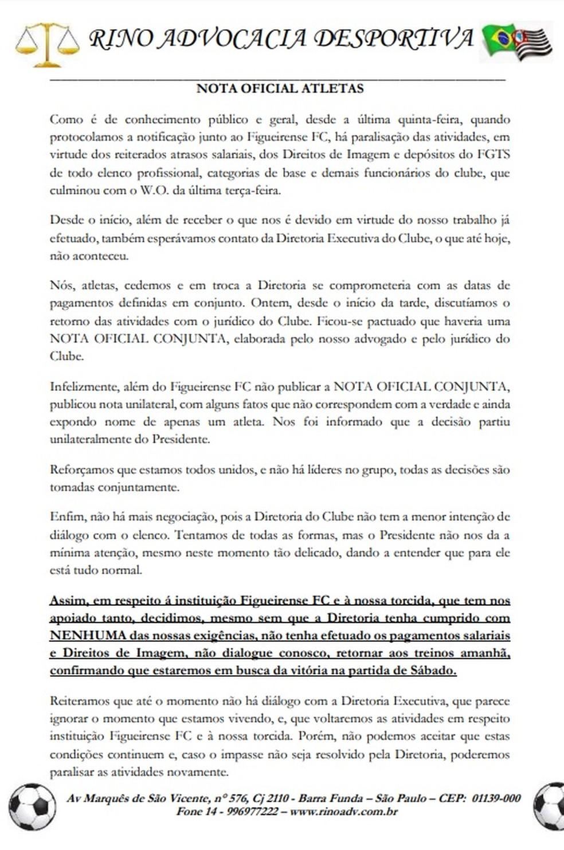 Nota jogadores do Figueirense — Foto: Reprodução