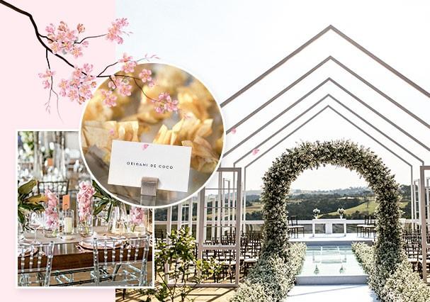 A Coreia é aqui: orquídeas, flores de cerejeira e docinhos de coco em formato de origami enfeitaram a festa (Foto: Sarah Falugo)