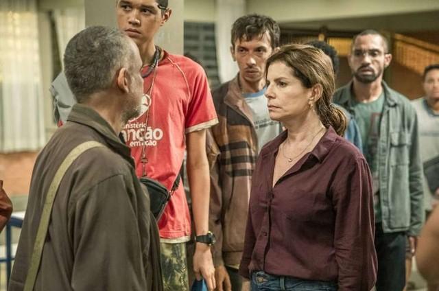 Cena da nova temporada de 'Segunda chamada' (Foto: Fábio Rocha/Globo)
