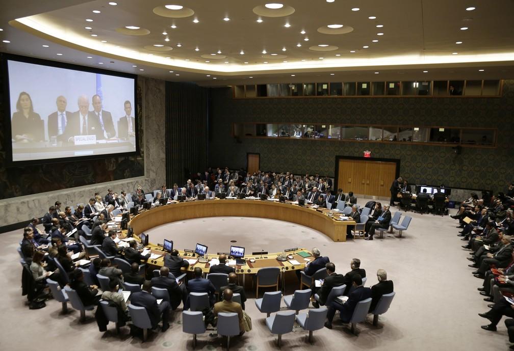 Conselho de Segurança da ONU — Foto: AP Photo/Seth Wenig
