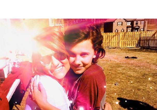 Peyton e Millie Bobby Brown, a Eleven (Foto: Reprodução/Instagram)