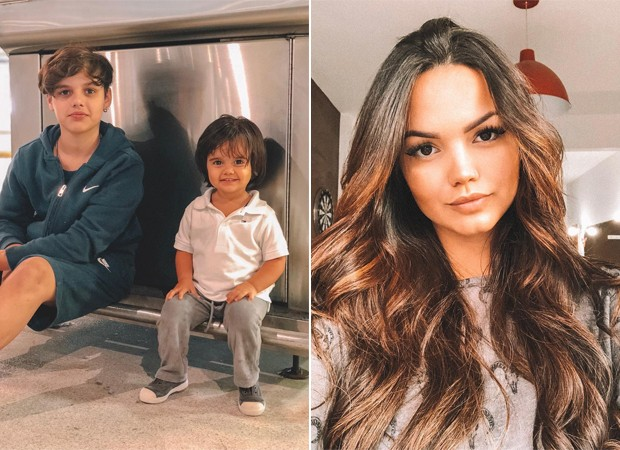 Jaime, Arthur e Suzanna Freitas, filhos de Kelly Key (Foto: Reprodução / Instagram)