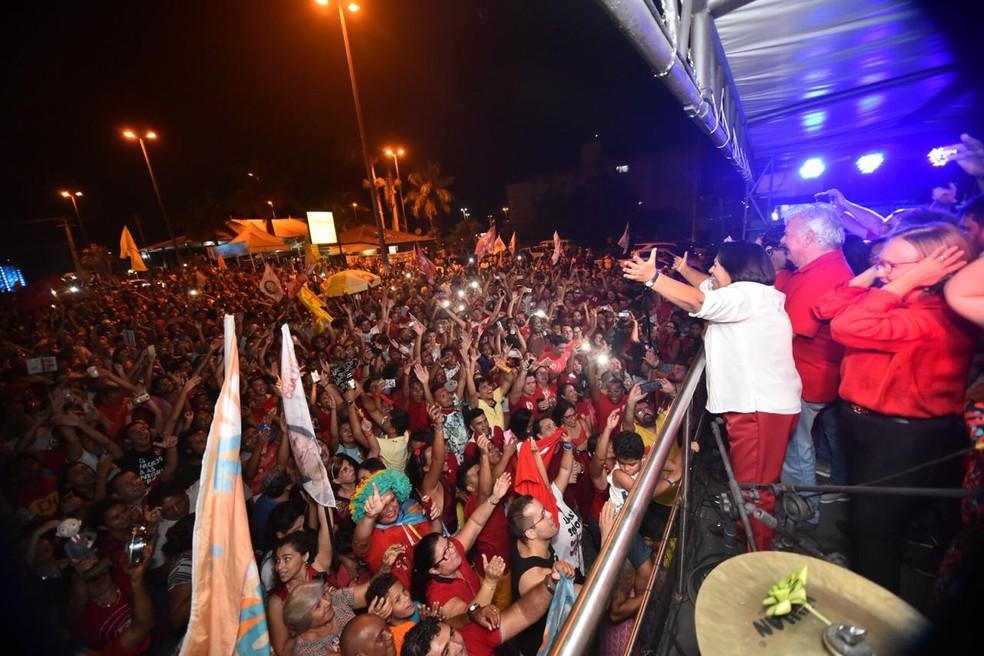 Fátima Bezerra foi eleita governadora do RN com 57,60% dos votos válidos — Foto: Elisa Elsie