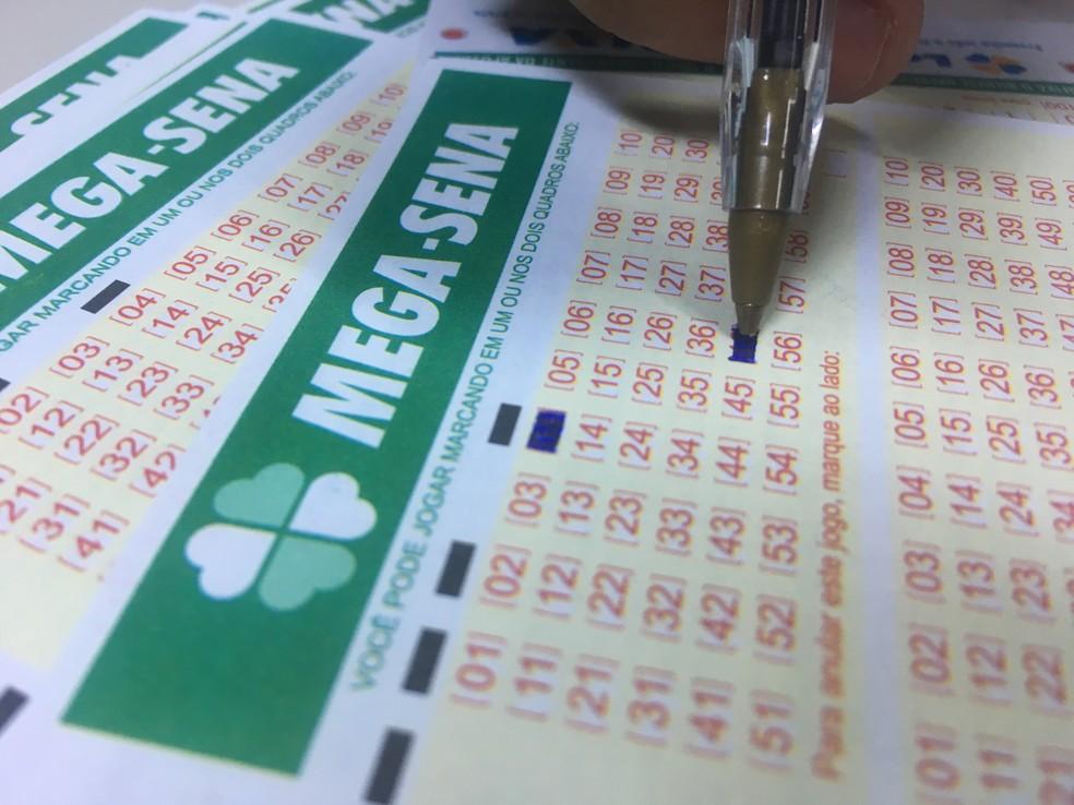 Mega-Sena: concurso 2.059 foi sorteado neste sábado (14) (Foto: Stephanie Fonseca/G1)