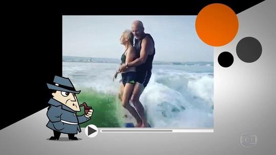 Verdadeiro ou falso? Vídeo de idosa fazendo wakeboard gera dúvidA