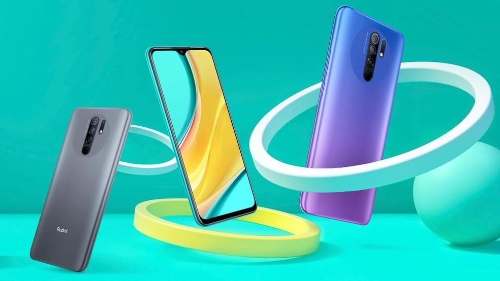 Redmi 9 chegou ao mercado europeu em três cores — Foto: Divulgação/Xiaomi