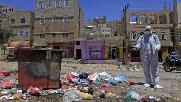 BBC - O conflito no Iêmen, que já dura 5 anos, é um obstáculo para o registro de casos de Covid-19 (Foto: Getty Images via BBC News)