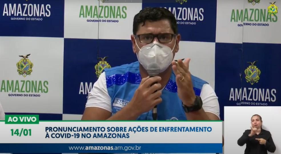 Franco Duarte fala sobre a transferência de pacientes para Teresina — Foto: Reprodução
