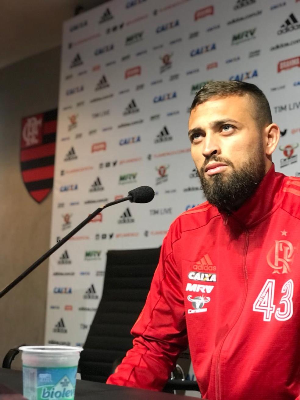 Léo Duarte Coletiva Flamengo — Foto: Cahê Mota