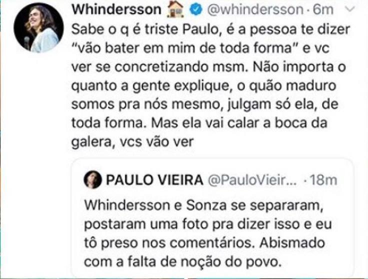 Tweets de Whindersson Nunes (Foto: Reprodução/Twitter)